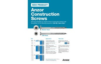 New Product - Anzor Construction Screws