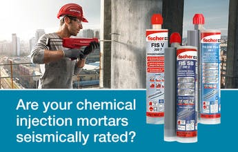 Are your chemical injection mortars seismically rated?