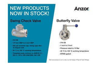 New Valves Now In Stock!