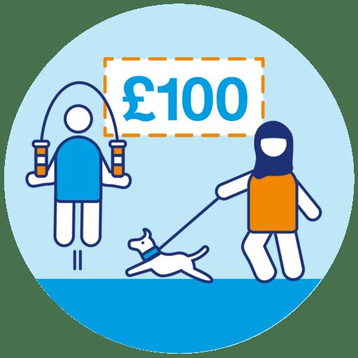 Raised £100