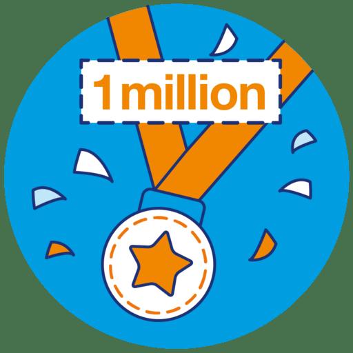 1 millions steps