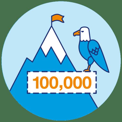 100,000 steps