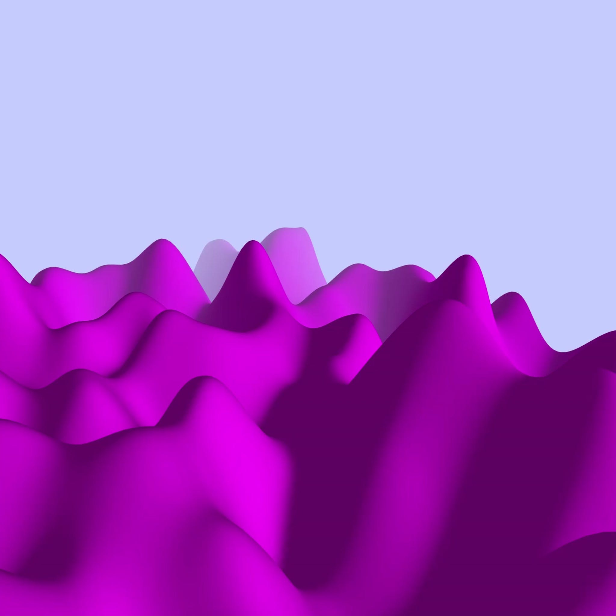 Pink mountains generated by code
