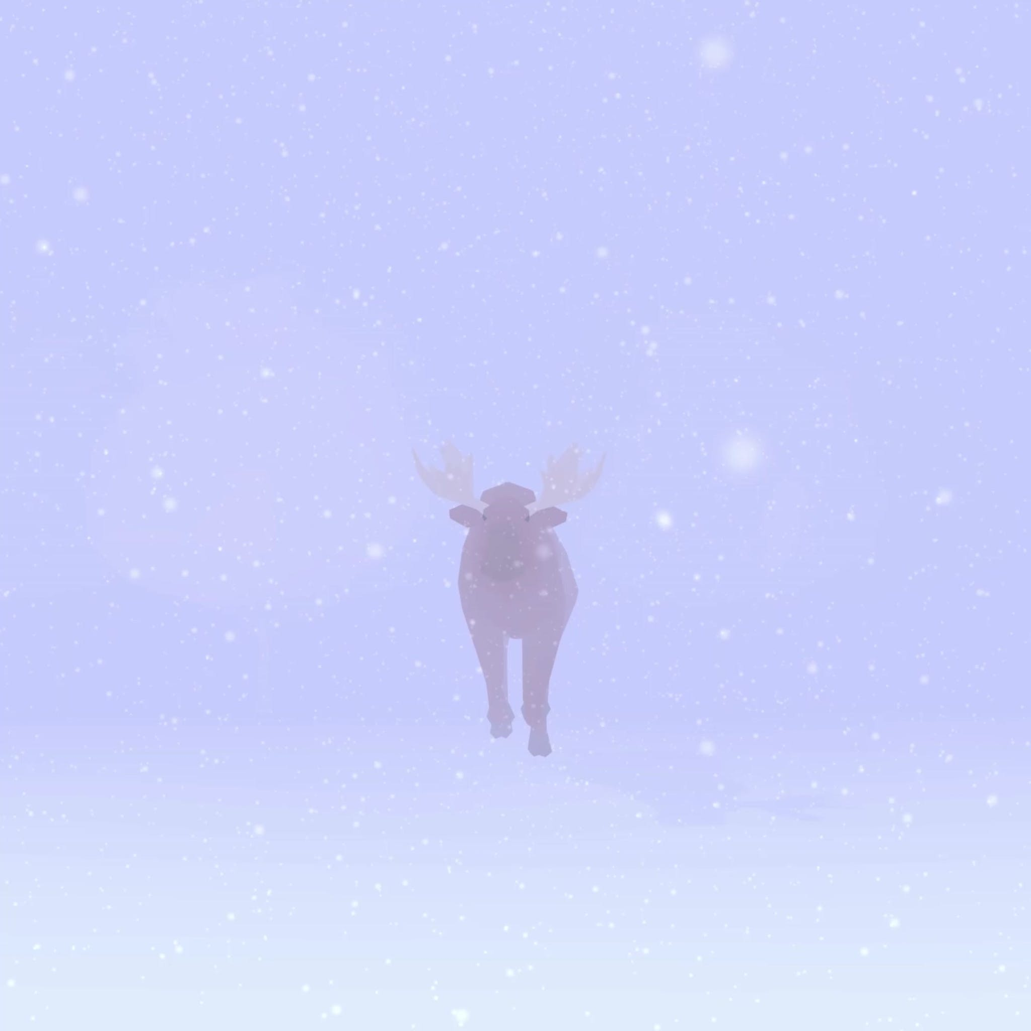 3d Moose in the middle of a snowy forest
