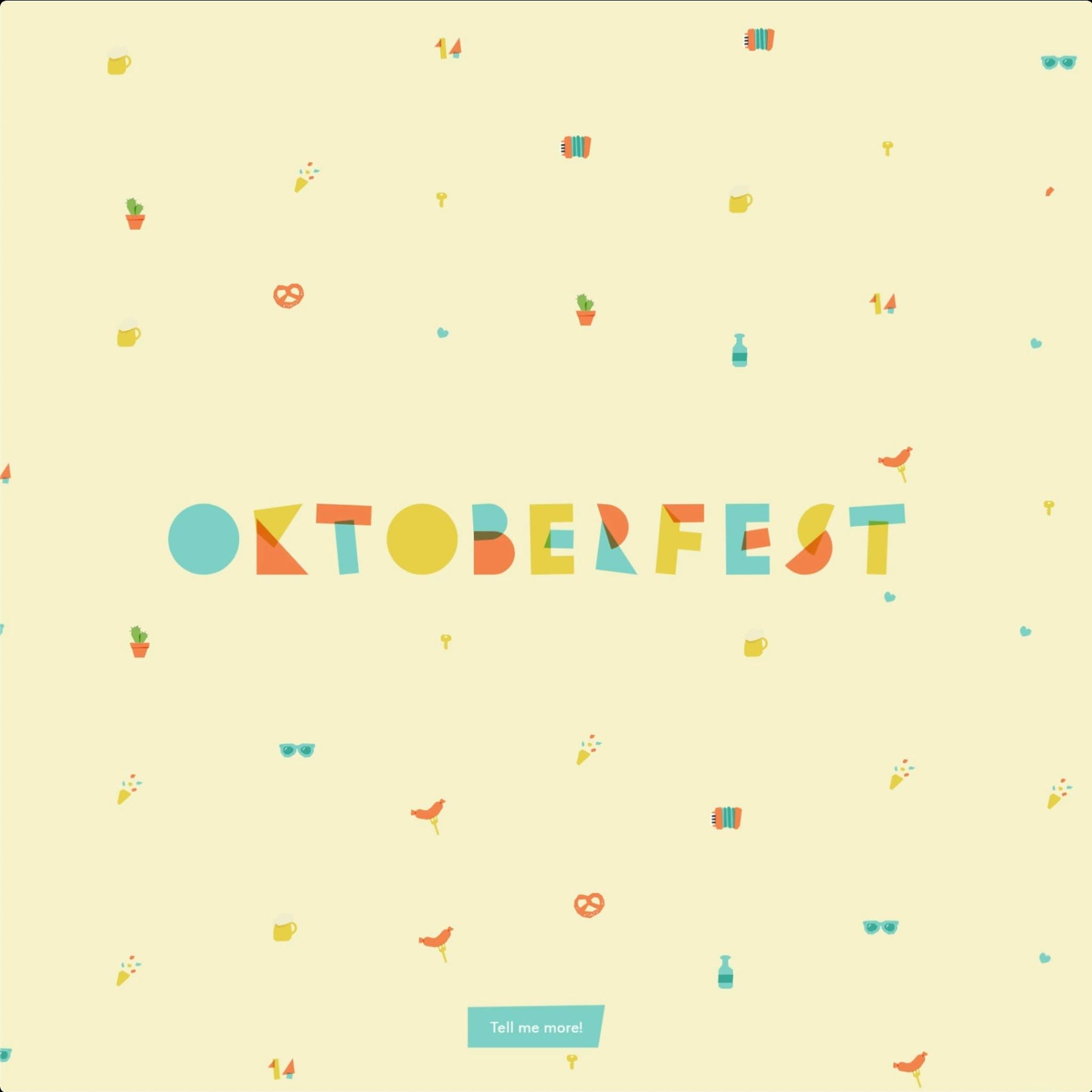 Oktoberfest web experience