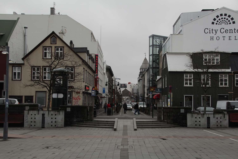 Downtown Reykjavík. The grey skies hadn't left us.