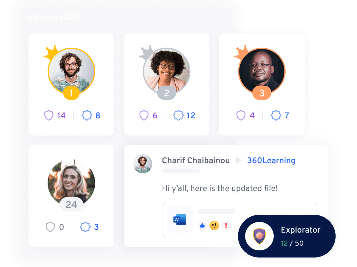 Leaderboard and gamification illustration |360Learning