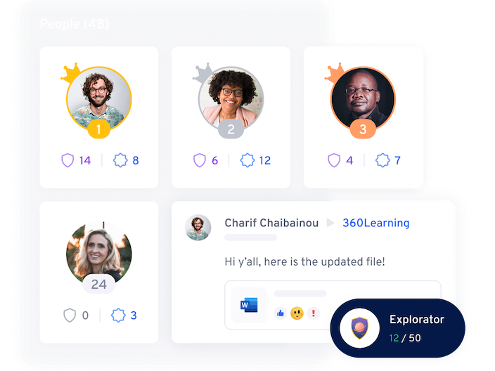 Leaderboard and gamification illustration  360Learning