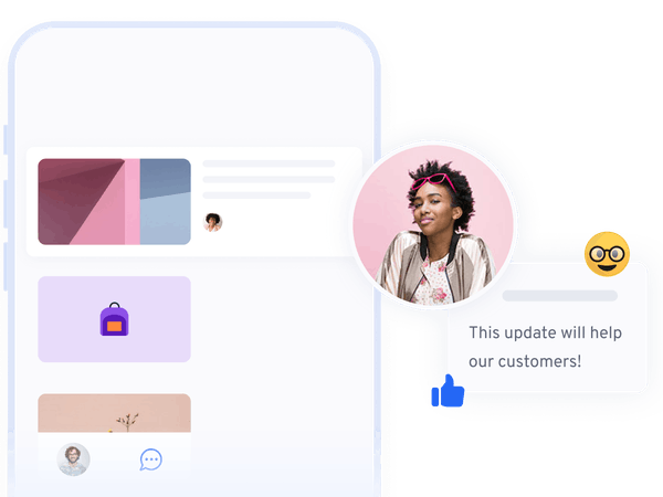 Product illustration Mobile |360Learning