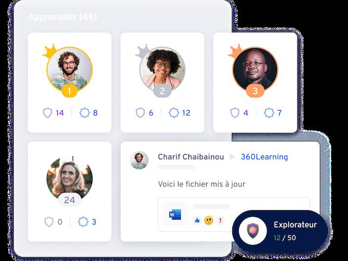 Illustration leaderboard et gamification |360Learning