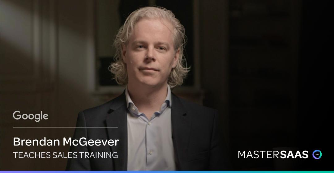 Mastersaas sales training Google