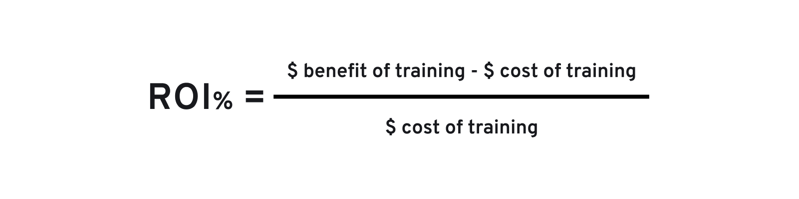 training ROI formula
