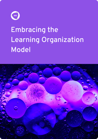 Embracing Learning Organization ebook cover  360Learning