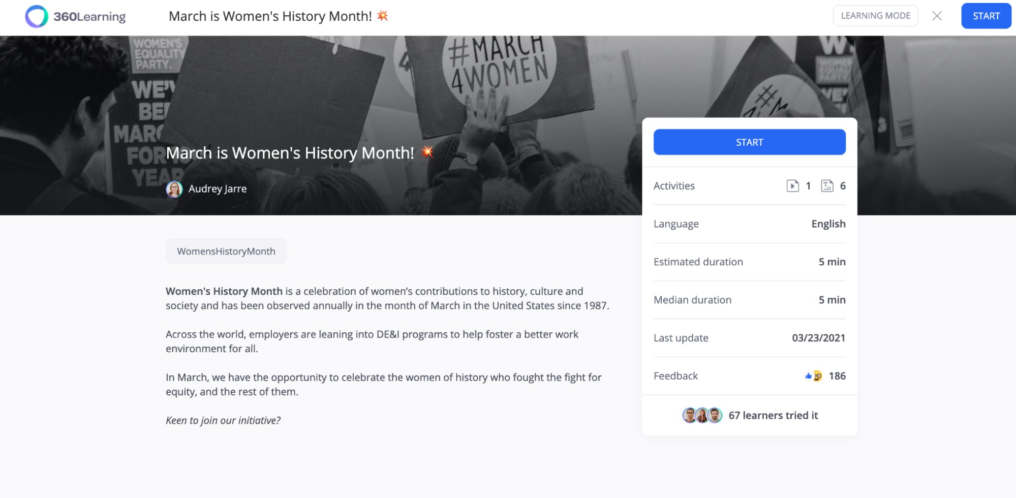 Women's History Month Course