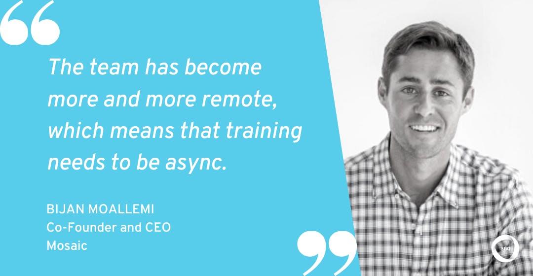 Async online employee training