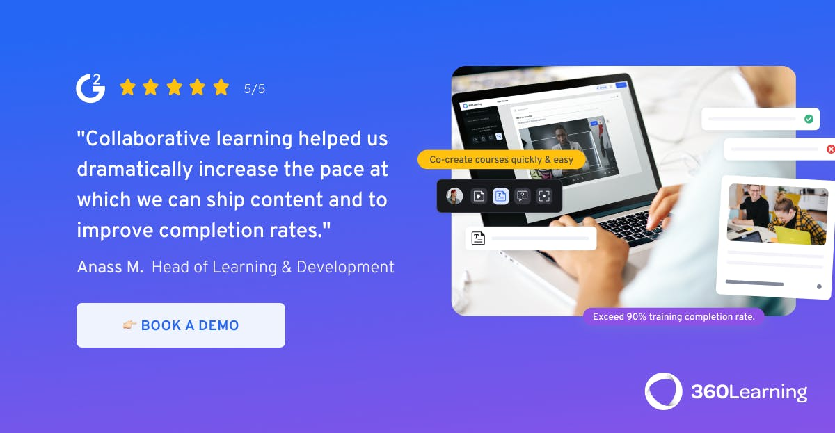 Book a demo of 360Learning