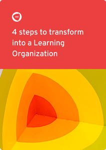 4 steps to become Learning Organization ebook cover |360Learning