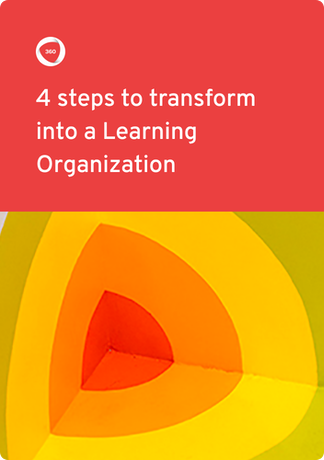 4 steps to become Learning Organization ebook cover | 360Learning