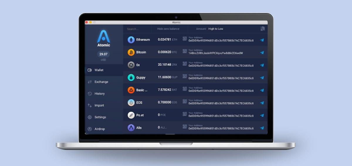 A desktop wallet – Atomic Wallet
