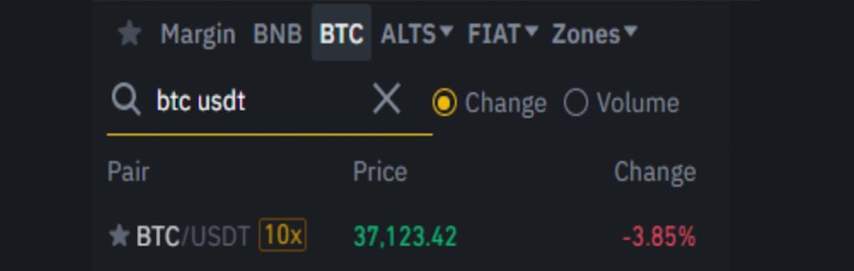 choosing a crypto trading pair