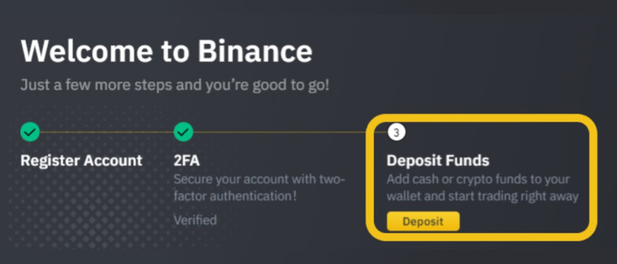 Start trading on Binance