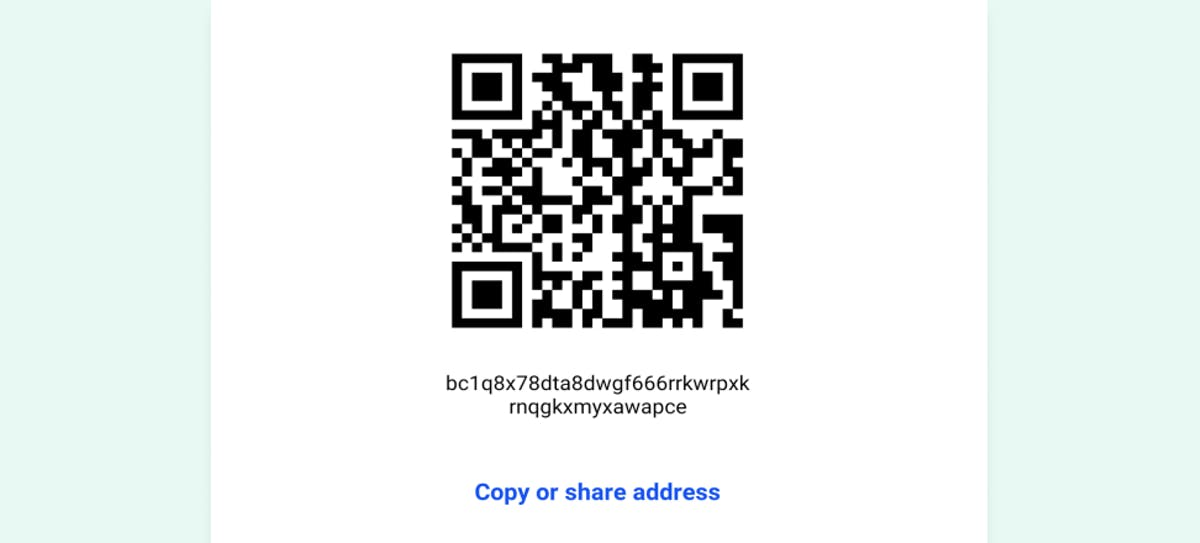 1st step of buying crypto - copying your Bitcoin address
