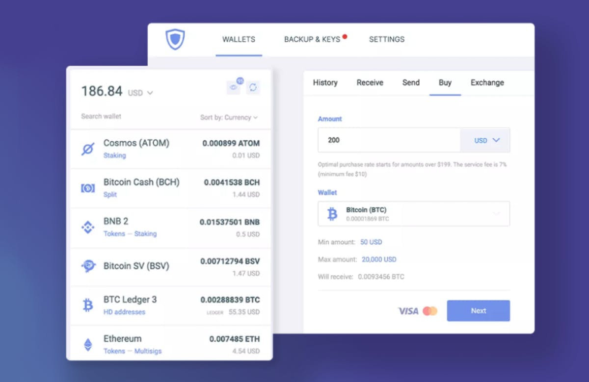 Guarda crypto wallet screenshot
