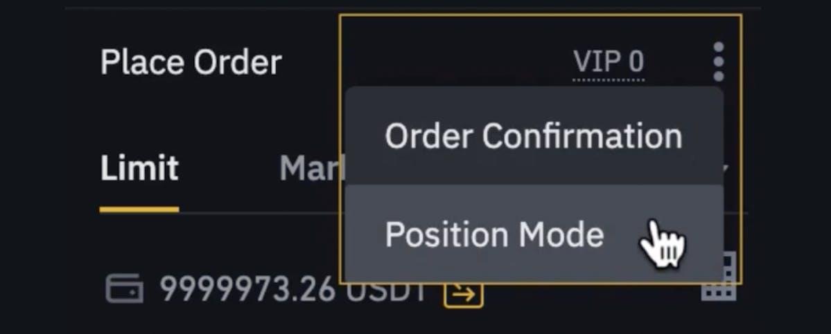 Position mode on Binance