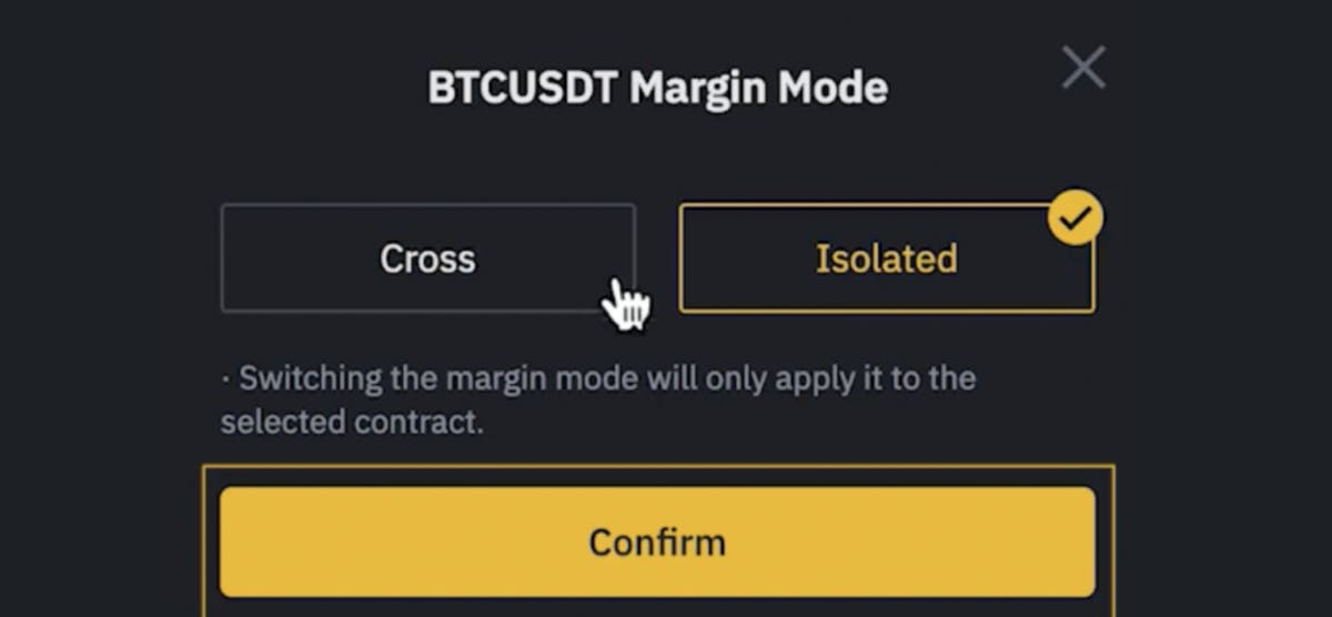 cross and isolated margin modes on Binance