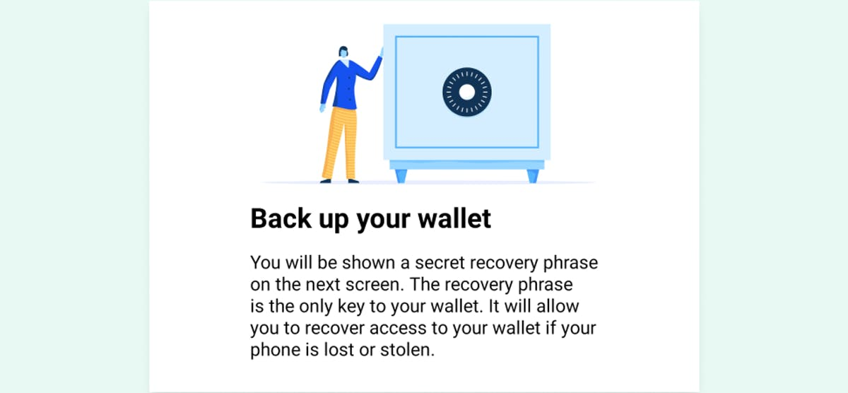 6th step – backing up your Coinbase wallet