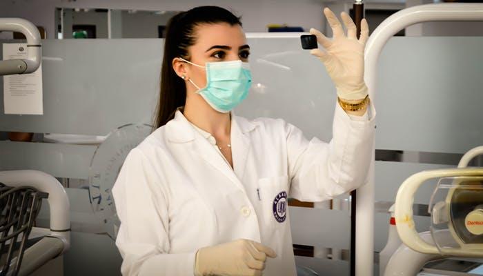 a scientist examines CBD for animals