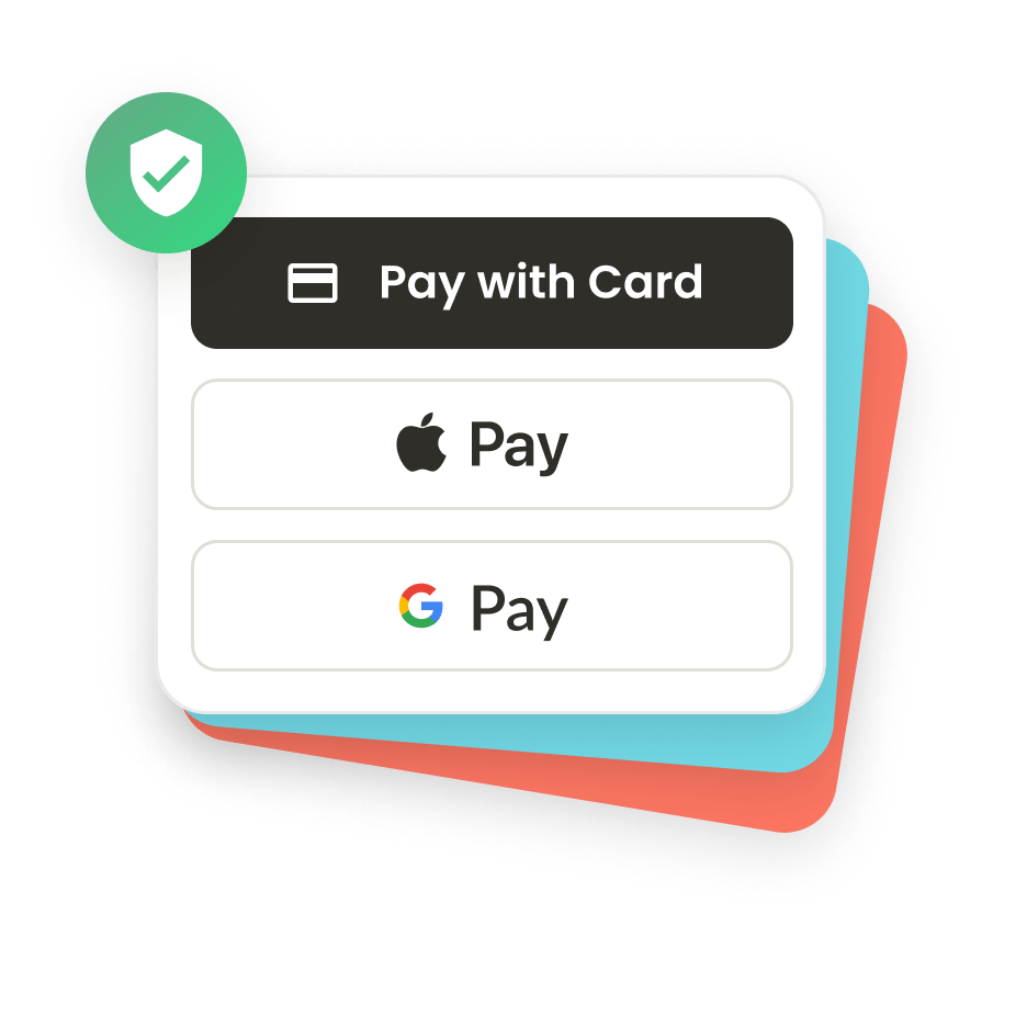 Securely donate with credit card, Apple Pay or Google Pay