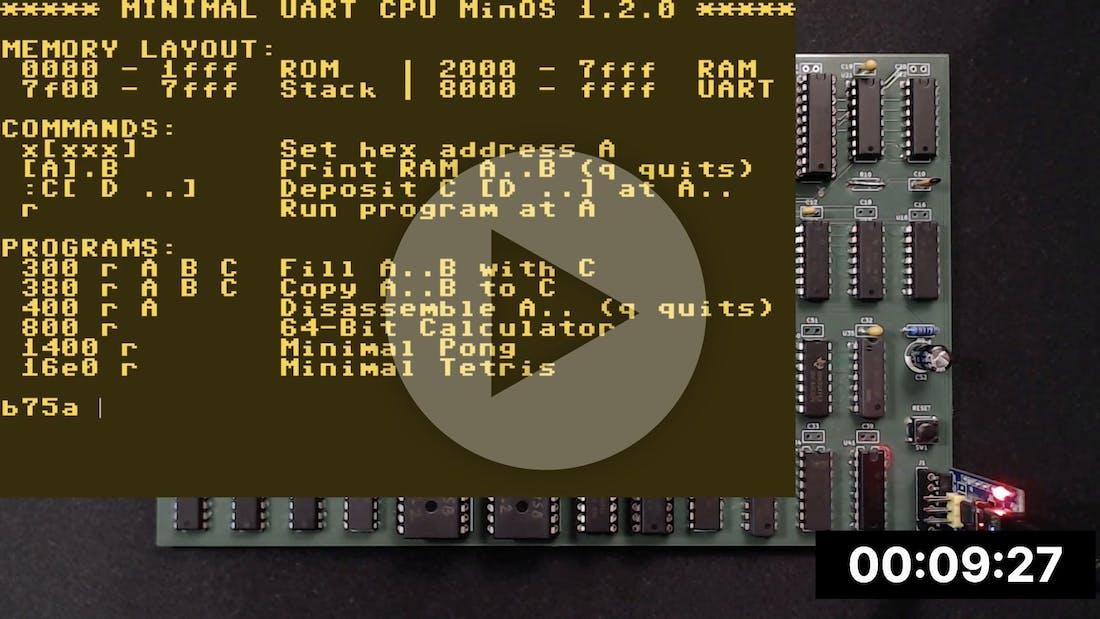 UART Madness - 8-Bit Computer with UART Interface