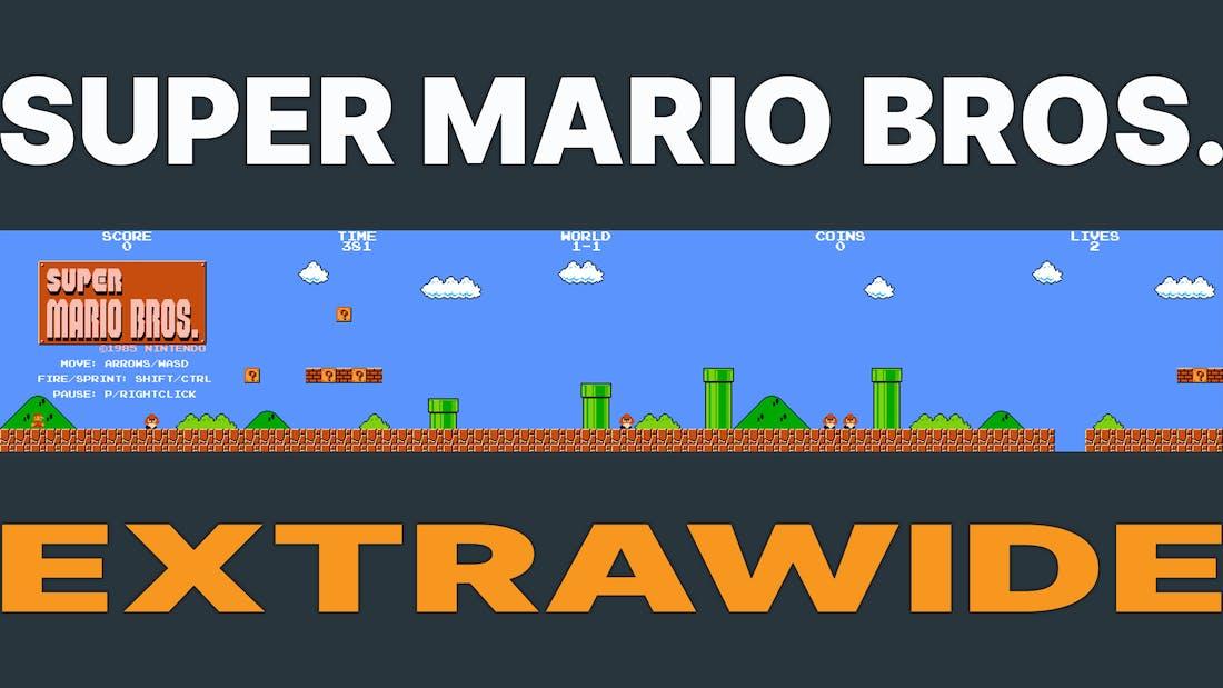 Super Mario Bros. - Extrawide