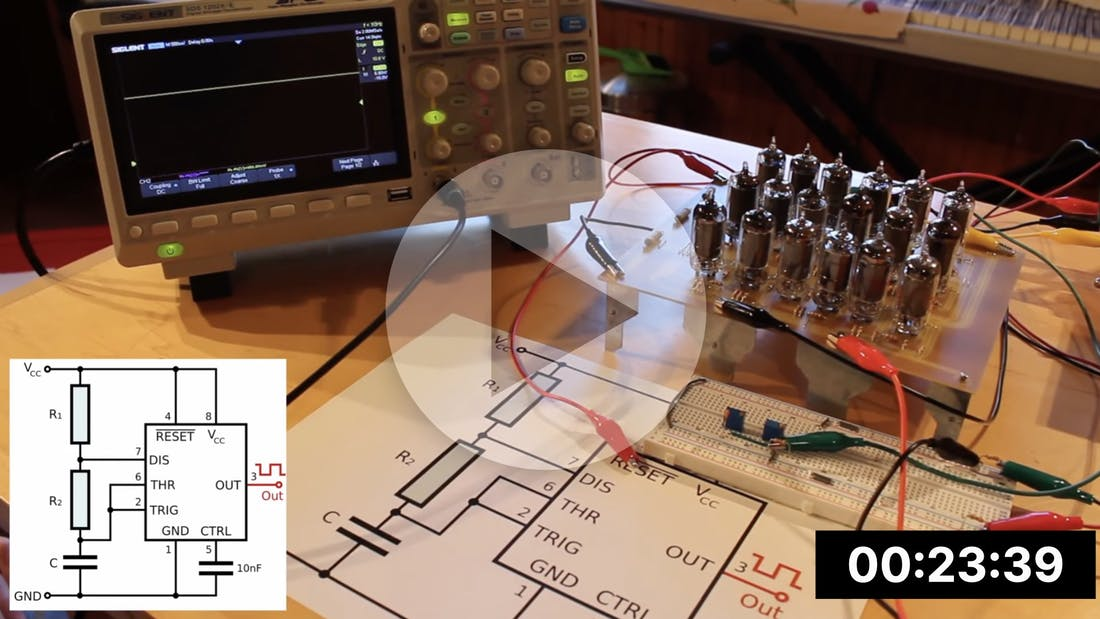 A 555 Timer made from Vacuum Tubes