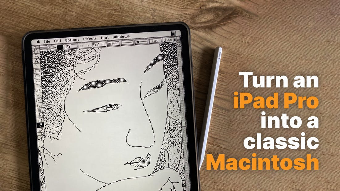 Turn An iPad Pro Into A Classic Macintosh