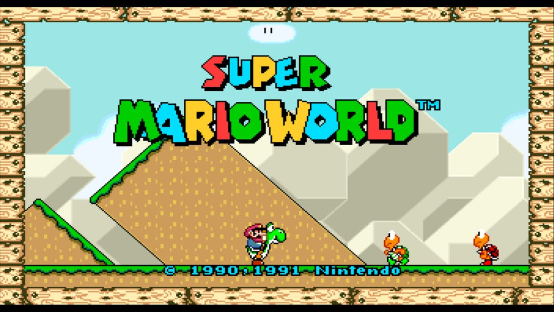 Super Mario World Widescreen Version SNES