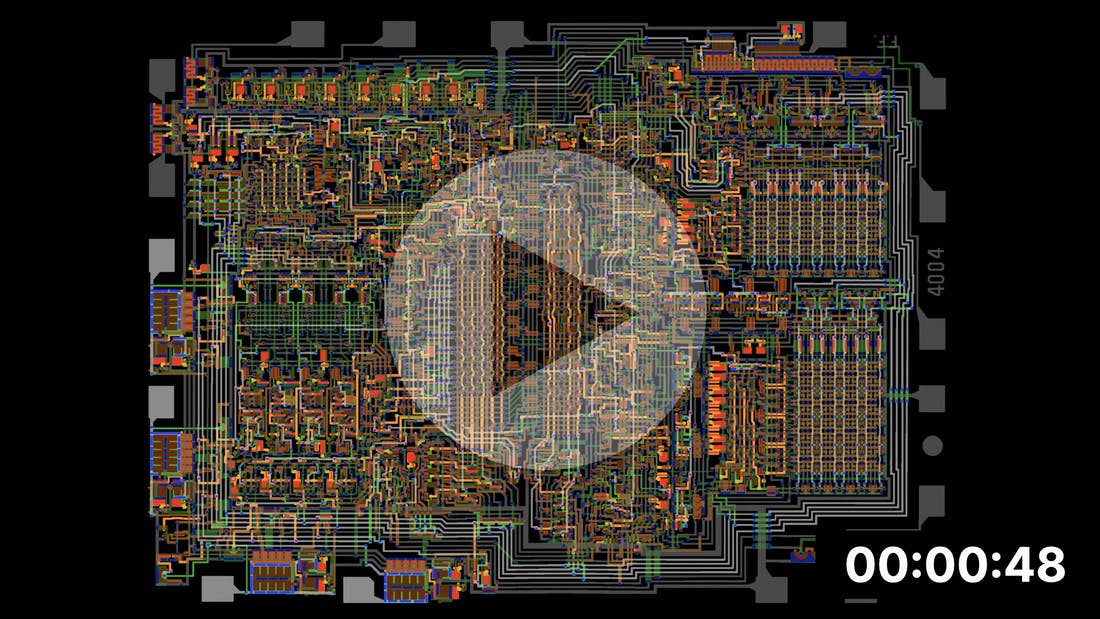 Intel 4004 - Visual Simulation