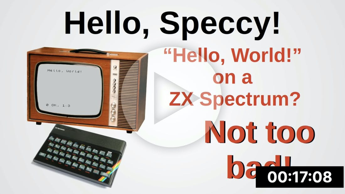 Hello World in ZX Spectrum Assembly