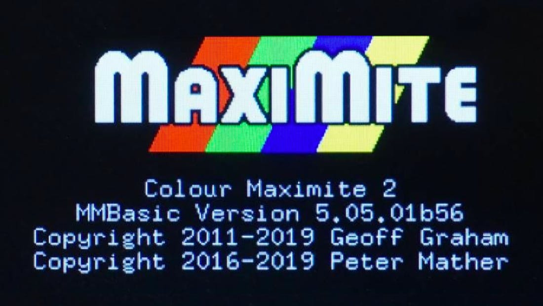 Non-8-Bit Dream - Colour Maximite 2