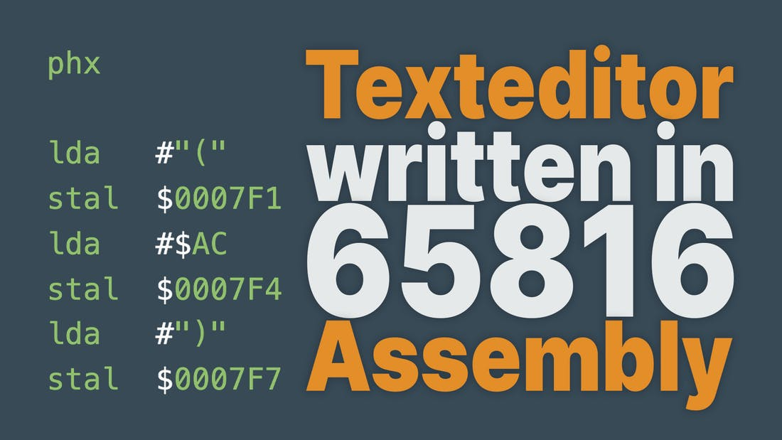 Texteditor Written In Assembly