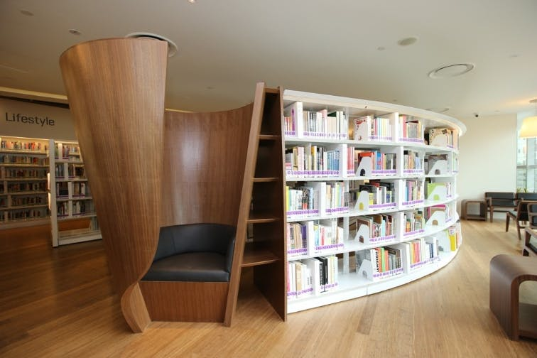 Library@orchard, which residents at Bideford Hills can visit