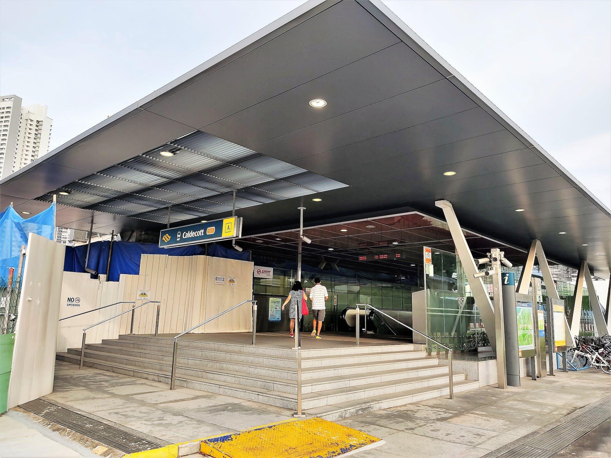 Caldecott MRT Station entrance