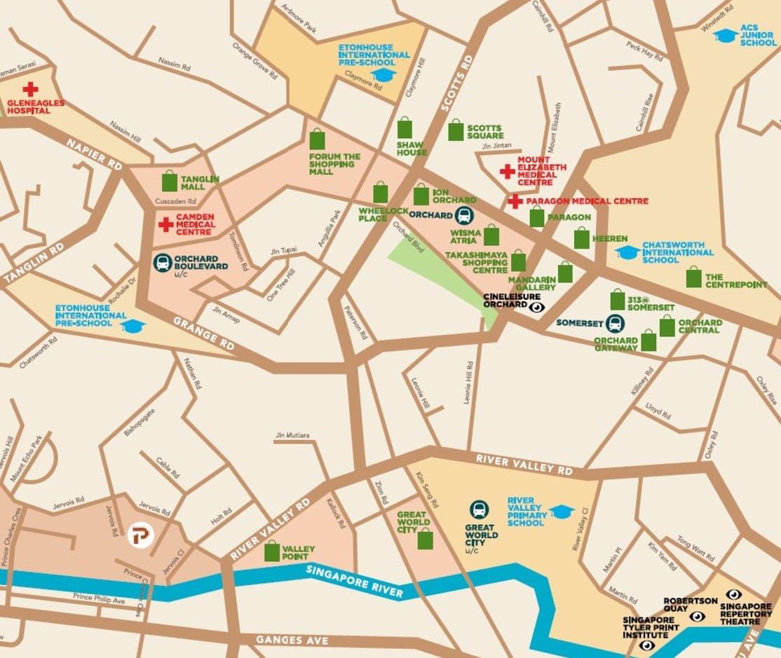 Map of the vicinity around Petit Jervois