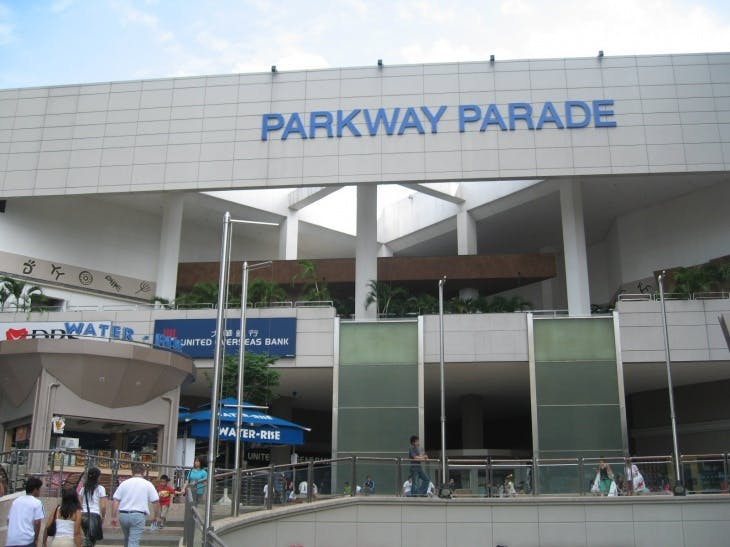 Parkway Parade is just 2 MRT stop away.