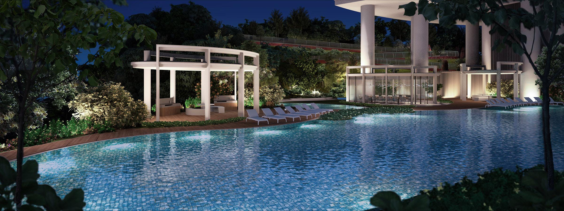 Featuring one of One Pearl Bank's stunning and luxurious pools