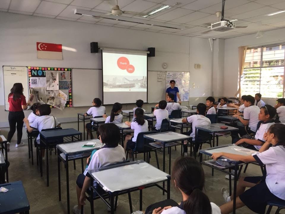 Students at Hougang Secondary School