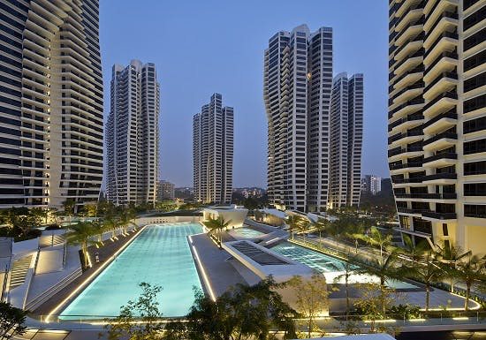 D'leedon a stunning condominium designed by Pritzer Prize-winning architect, Zaha Hadid