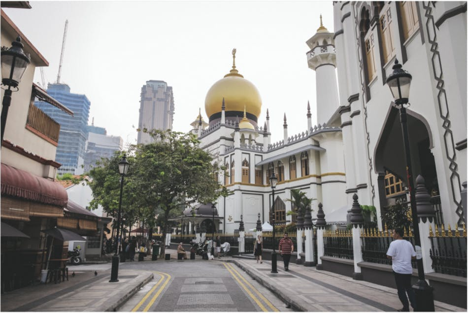 Masjid Sultan (Sultan Mosque) an iconic landmark in Singapore that is located at Kampong Glam