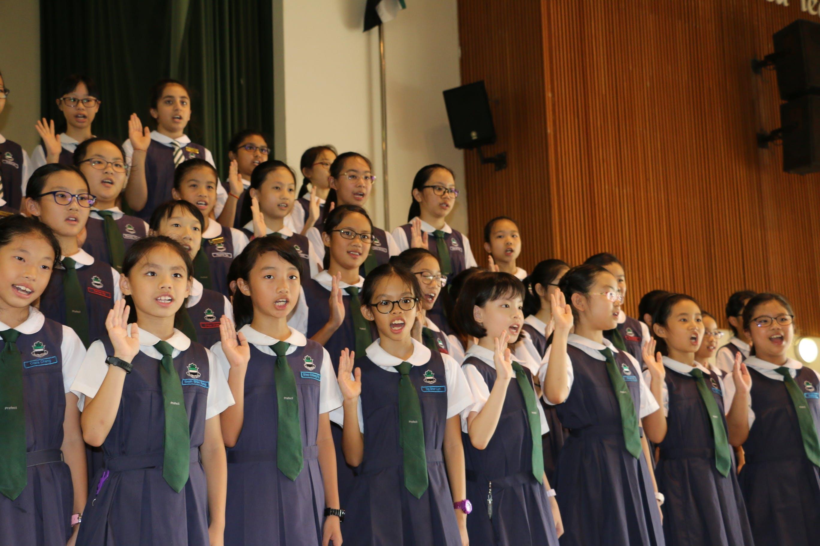 Raffles Girls' Primary School students